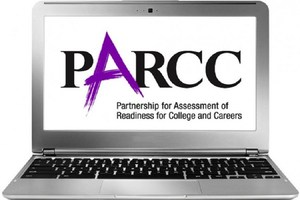 Picture of a computer screen with the word PARCC on it.