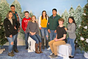 Court of Beauty, left to right- Jackie Huizar and Jarvis Bonds, 10th grade; Tyler Fowler and Elizabeth Gray, 11th grade; Hailey Hunter and James Gonzalez, 12th grade; Ethan Oliver and Laura Campos, 9th grade.