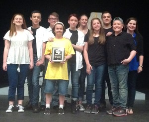 Brewer Middle School's UIL One-Act Play won third place overall in the competition.