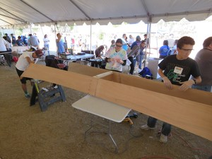 Hemet Unified's Solar Cup students building their boat