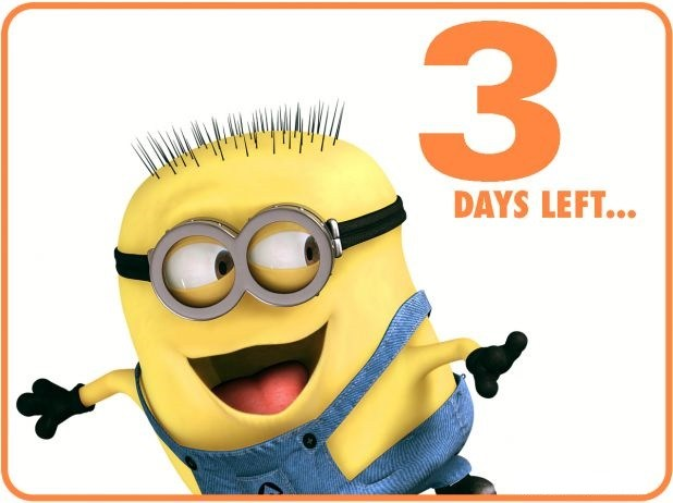 3 days left with minion