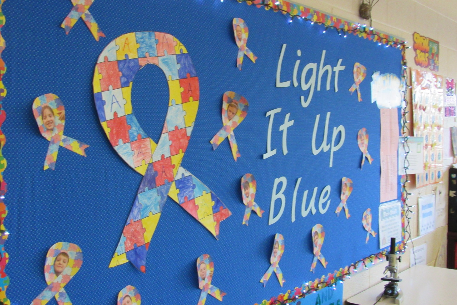 Light it Up Blue for Autism Awareness Bulletin Board