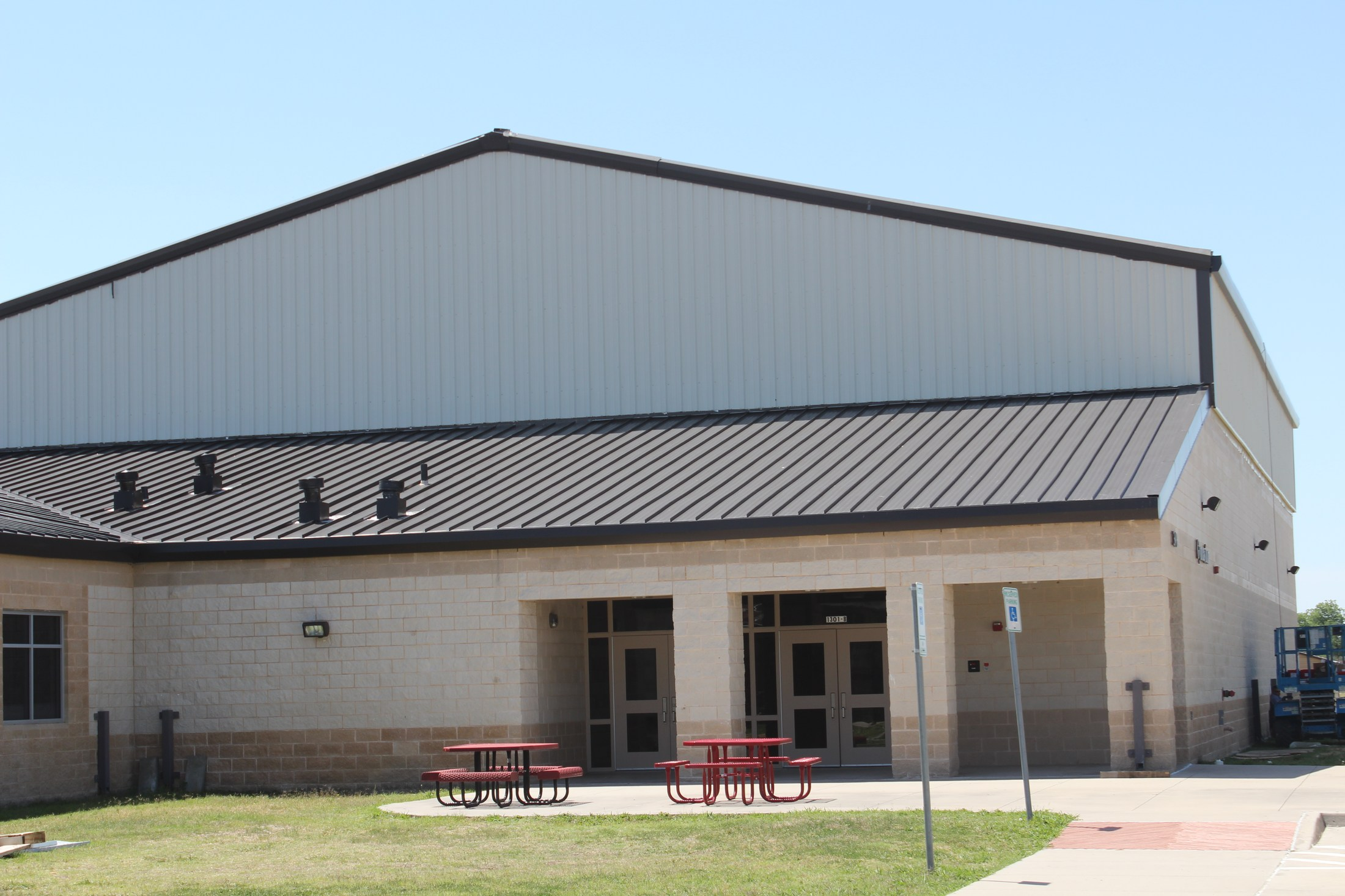 Jr High New Gym Outside