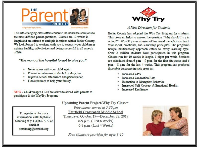 Informational flyer about the parent project coming to the FCSD Oct. 19.