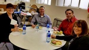 Counselors at Bakersfield High School enjoying lunch.