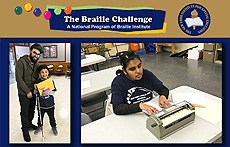Xavier and Jessica at the Braille Challenge