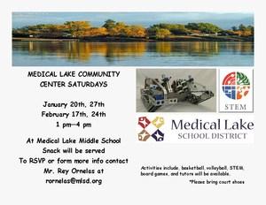Community Center Saturday January/February Flyer