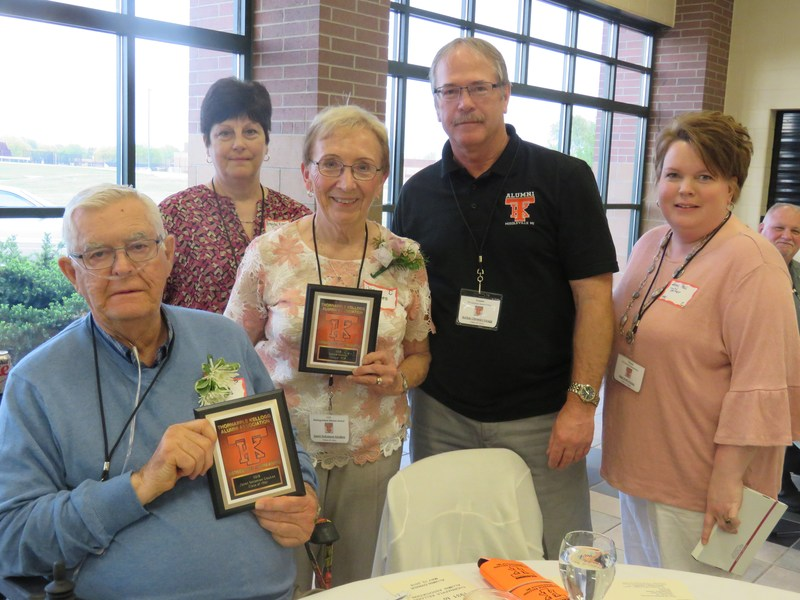 Don and Janet Geukes were honored as distinguished alumni.