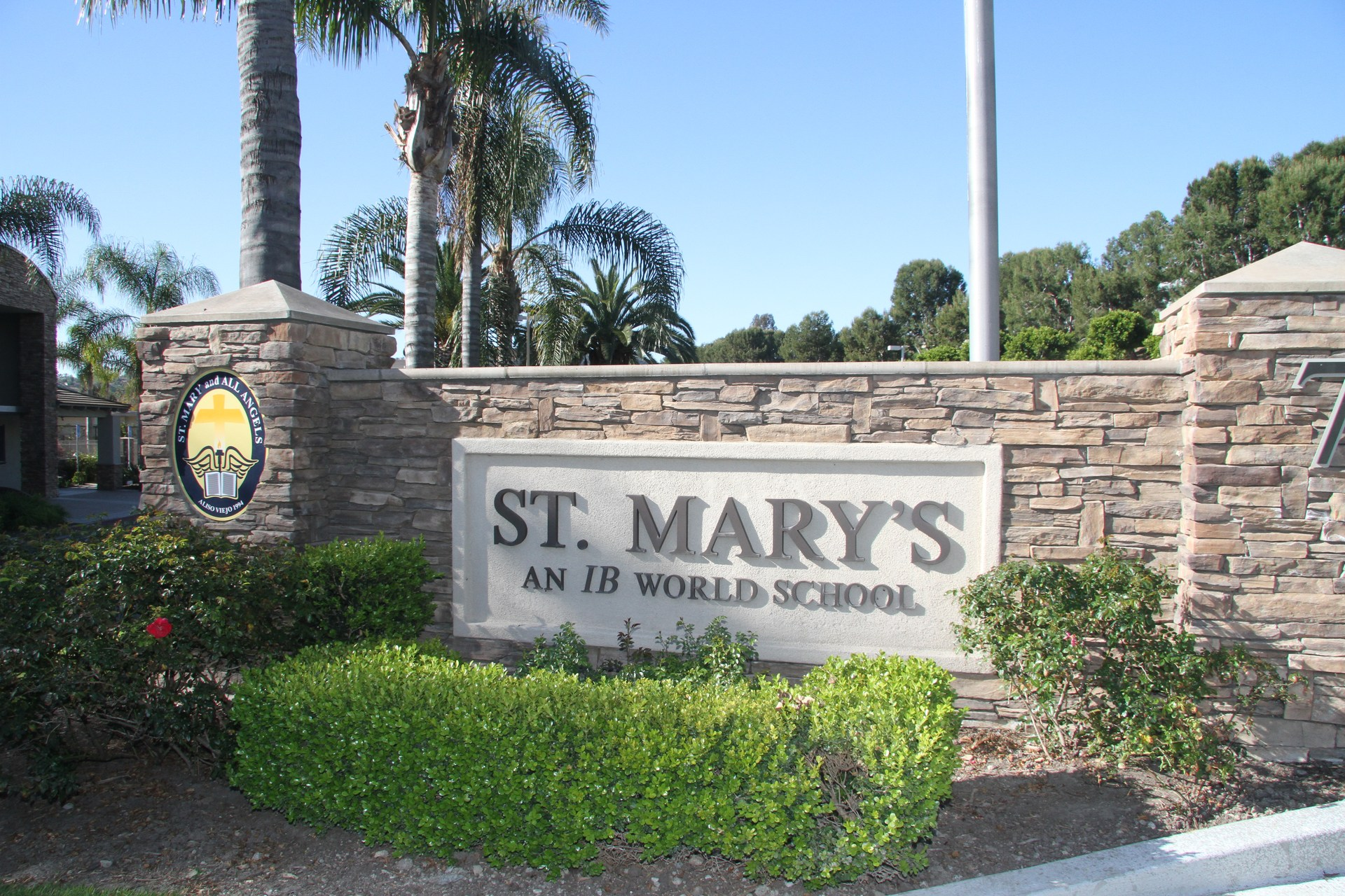 St. Mary's School Sign