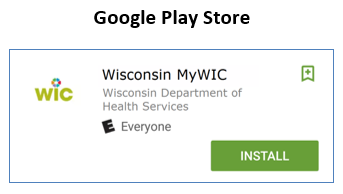 Picture of MyWIC app in Android store
