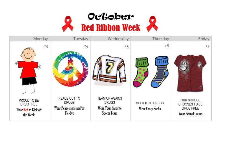 Red Ribbon Week Spirit Days Featured Photo