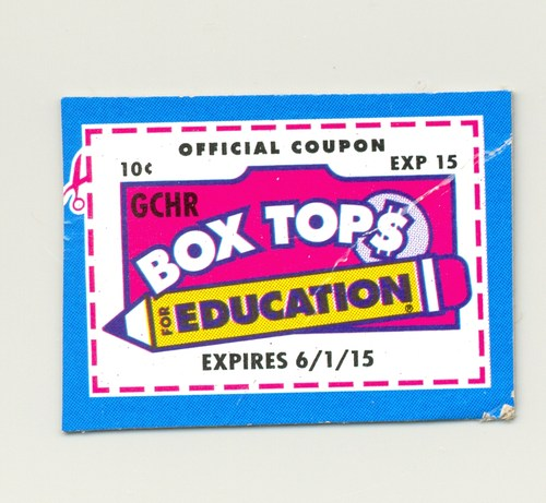 SAVE YOUR BOX TOPS!