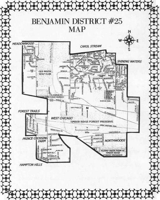 Benjamin School District 25 Map