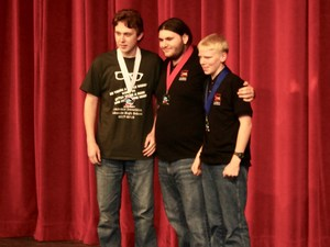Tyler Goodrich (left) took Bronze in the Math category.