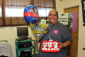 Celebrating our school nurse, Mrs. JoAnn Fuentes.