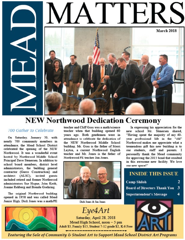 March 2018 Mead Matters Community Newsletter Featured Photo