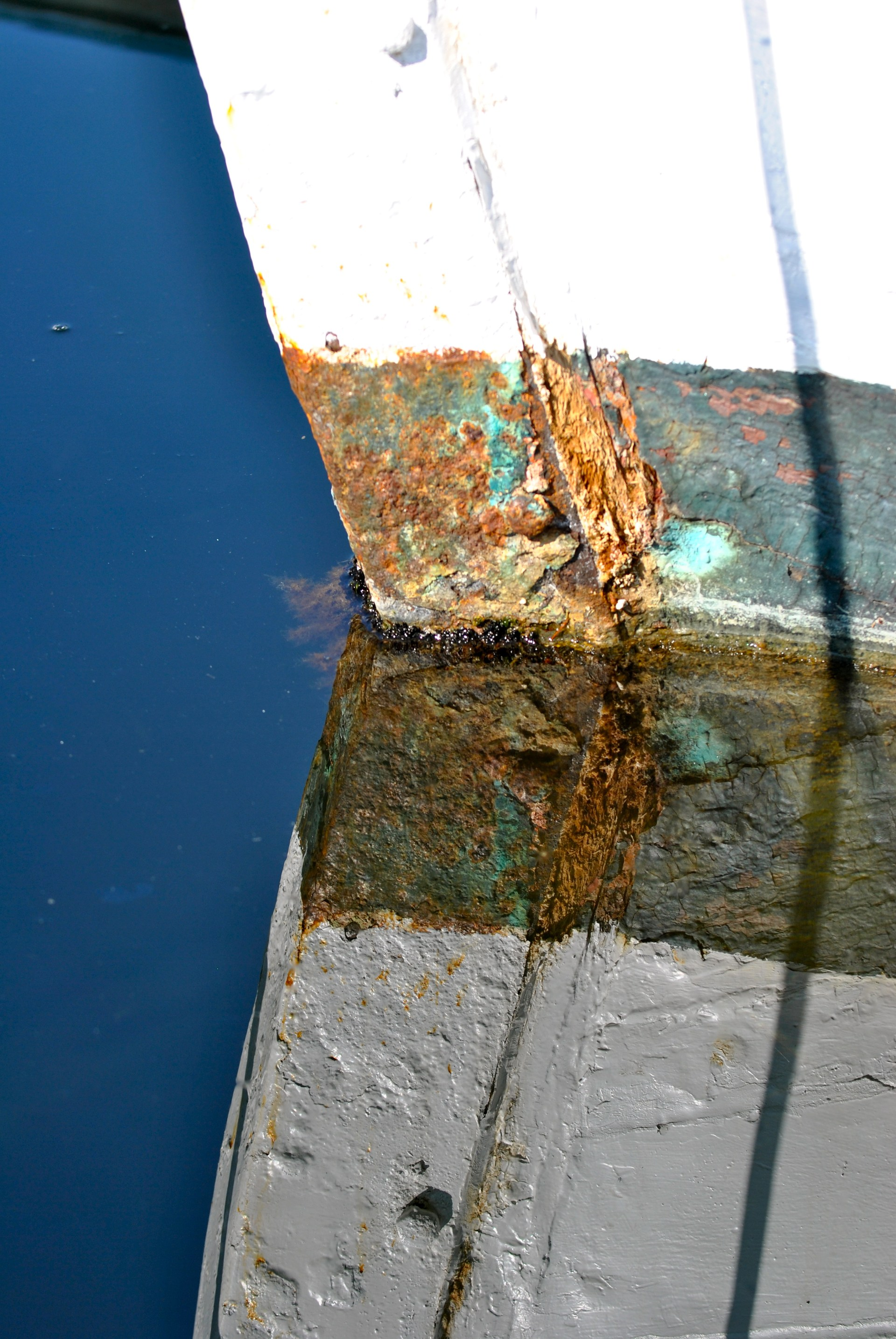 Bow of a rusted boat, Poulsbo, WA