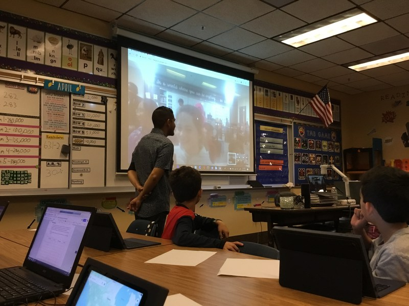 Mr. Arevalo's class held a Mystery Skype with new friends in Irvine, CA! Thumbnail Image