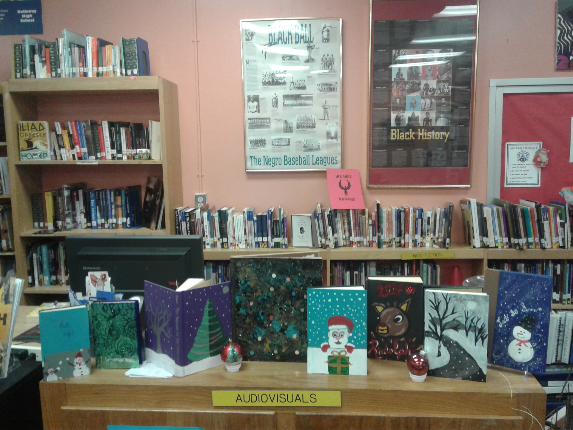 Book Club members painted weeded books