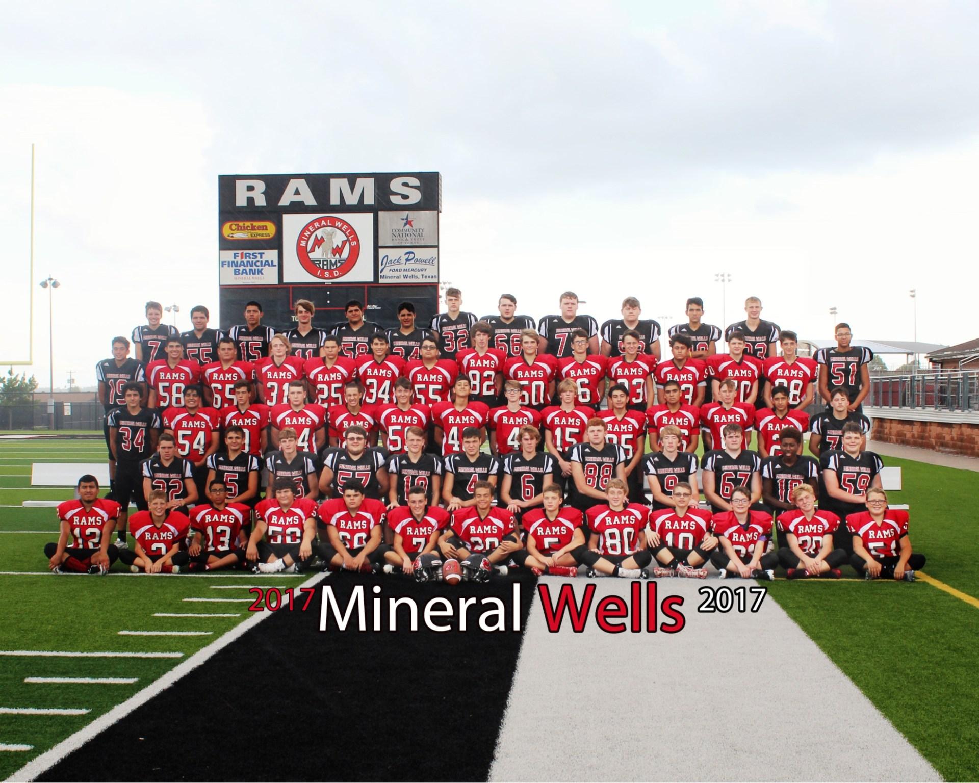 Rams JV Football Team 2017