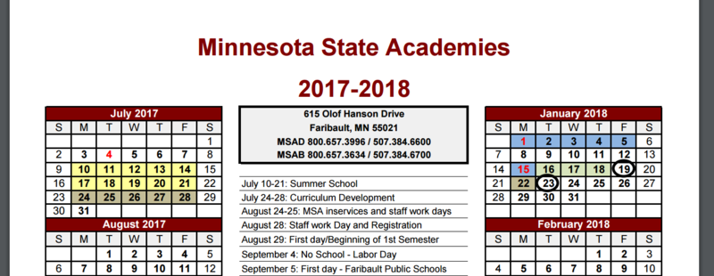 MSAB 2017-2018 School Calendar Available Now! Thumbnail Image