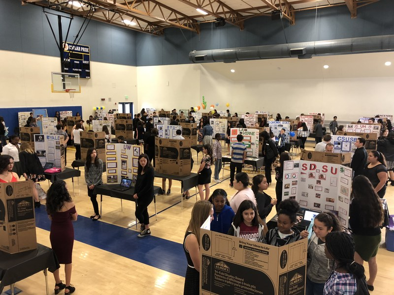 Acacia students exploring the College & Career Fair