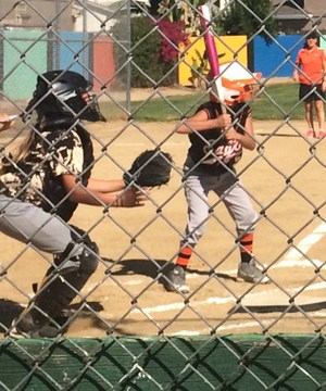 Catcher and Batter at Sylvandale Softball Game