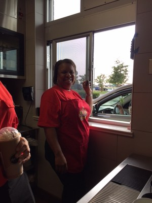 PTSA, MEF, and MISD Employees serve food at McDonalds in Manor.