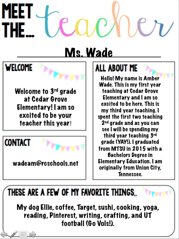 Meet Ms. Wade