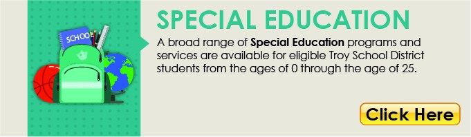 Special Education Button linking to the Special Education webpage.