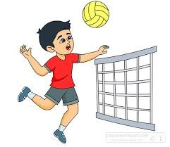 Boy playing volleyball