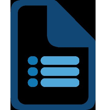 An image of a computer created icon of a paper checklist.