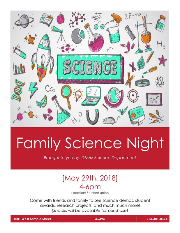 Family Science Night Flyer Featured Photo