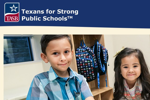 Front page of Texans for Strong Public Schools Website