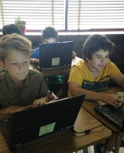 Two Boys Coding