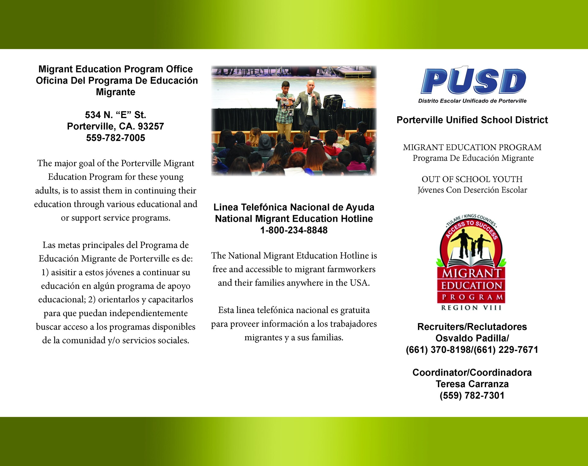 Migrant Education Flyer Page 1