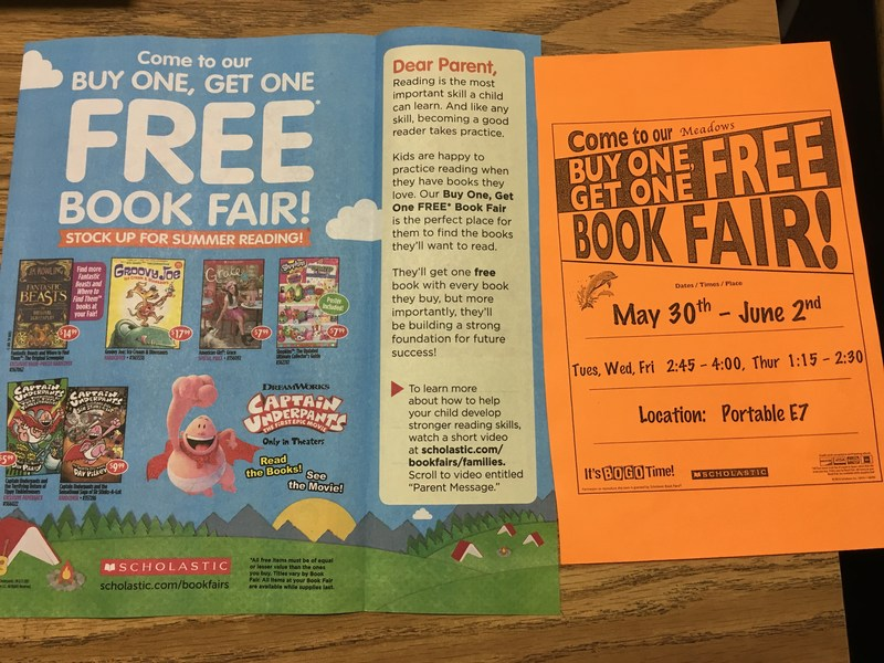 Just in time for Summer! Buy one get one free Book Fair Thumbnail Image