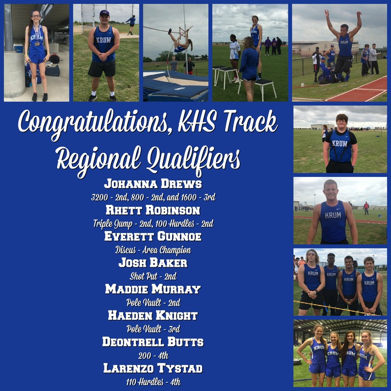 KHS Qualifies for 11 Regional Track Events Thumbnail Image