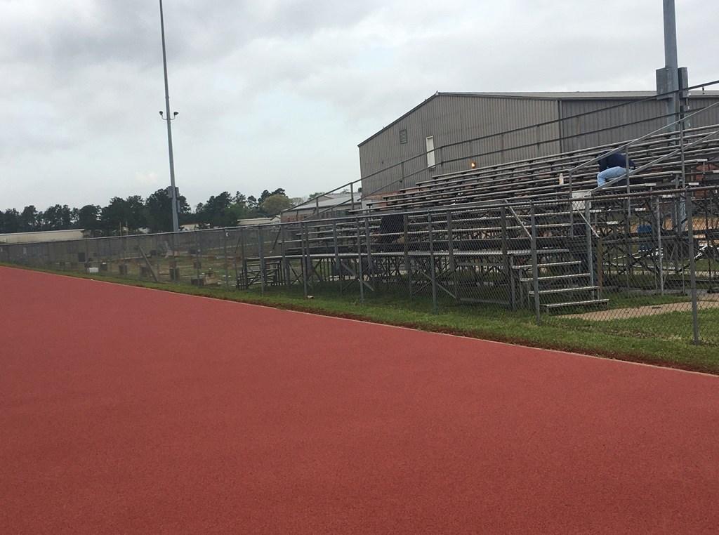 Photo of Trojan Stadium bleachers being removed