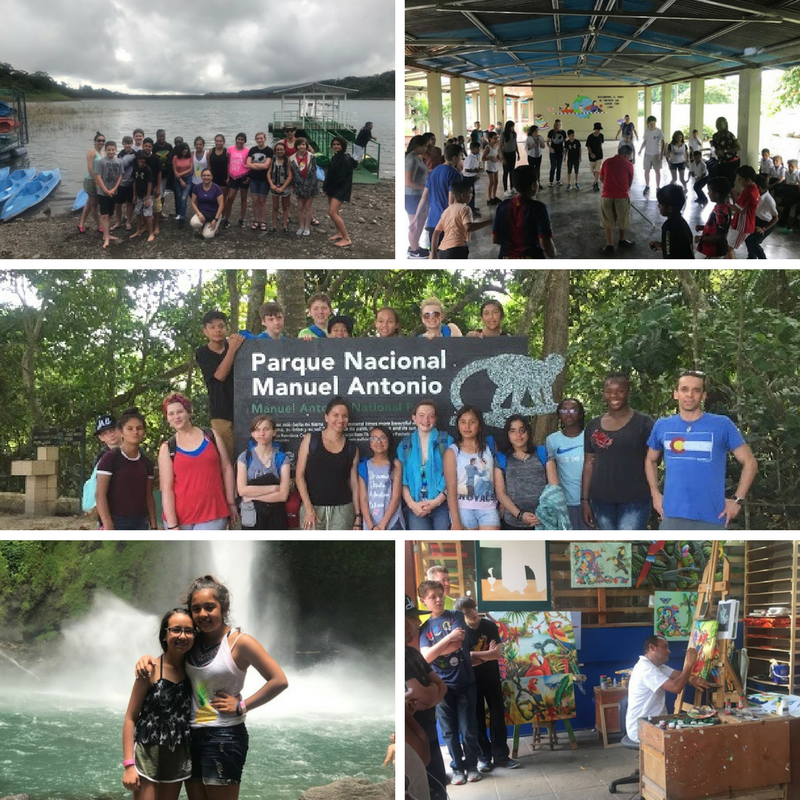 gva students sightseeing in Costa Rica on their Middle School Trip