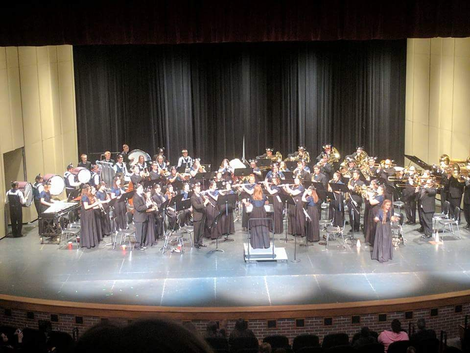 The OHS Symphonic Band performs during their spring concert.