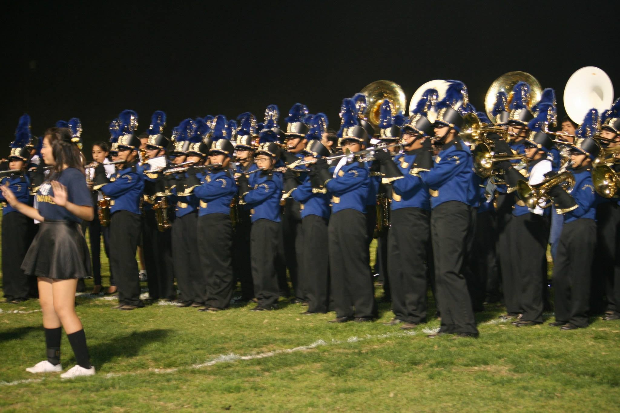 AHS band performance during Football Game.