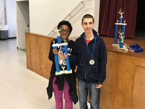 COHS students Charise Lincoln and Michael Moran won 1st place