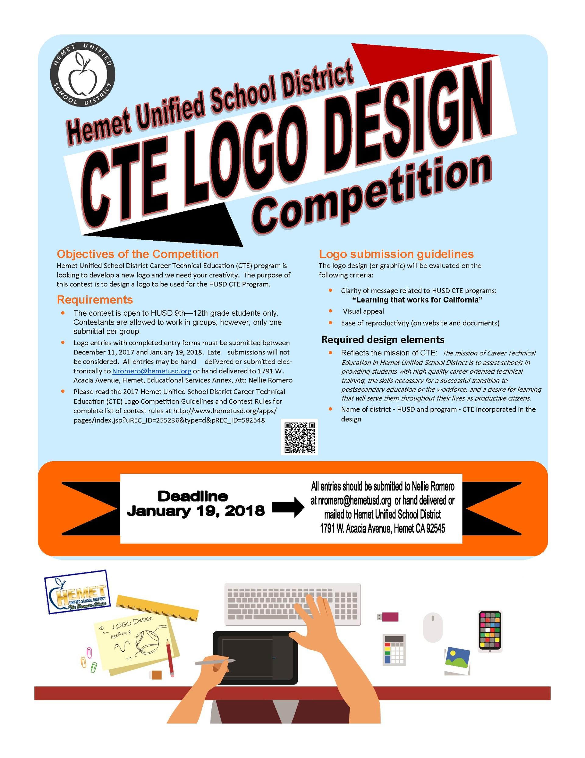 HUSD CTE Logo Design Competition flyer