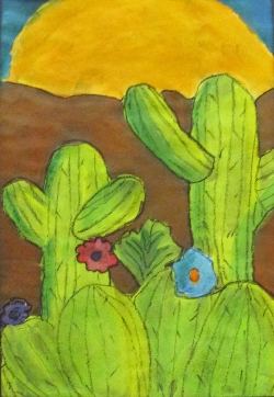 Cactus with setting sun  - Audrey Holt - Best of Show.jpg