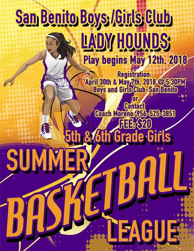 Summer Basketball League Flyer