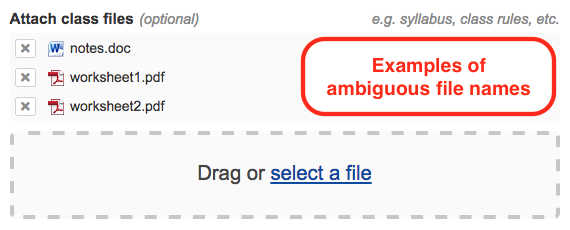 examples of ambiguous files names