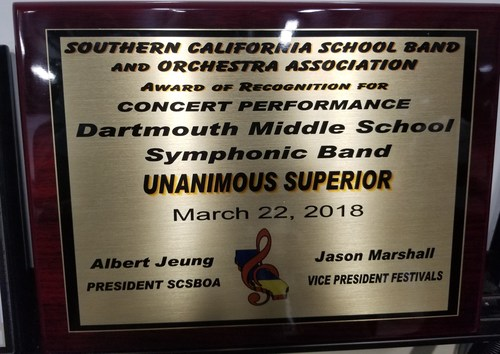 DMS Symphonic Band Unanimous Superior!