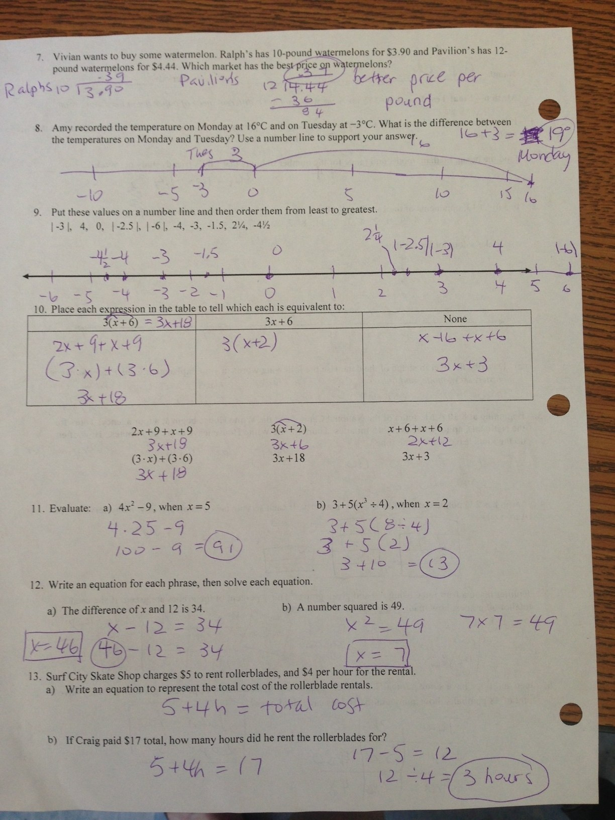 worksheet Box And Whisker Plot Worksheet 2 Answers culver city middle school math 6 final test hw answers page 2
