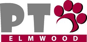 Elmwood PTO Graphic with Paw Print as the O